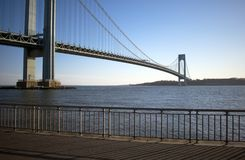 Verrazano Narrows Bridge -2. Verrazano Narrows Bridge connecting the New York City boroughs of Brooklyn and Richmond Staten Island viewed from Brooklyn stock image
