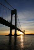 Verrazanobrug in New York Stock Foto's