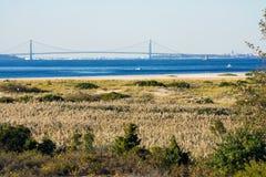 Verrazanoen från Sandy Hook Arkivfoto