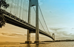 verrazzano της Νέας Υόρκης γεφυρών Στοκ Εικόνα