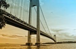 Verrazzano Bridge, NY. View of Verrazzano Bridge, NY at the dusk Stock Image