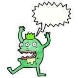 verrückte kreischende Monsterkarikatur Stockfoto