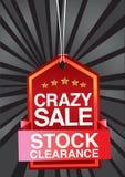 Verrückte Verkaufsvorsatzauslegung Stockfoto