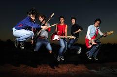 Verrücktes musikalisches Band Lizenzfreie Stockfotografie