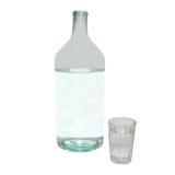 verre à bouteilles transparent Photo stock