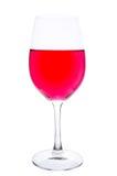Verre à vin avec du vin dilué Images libres de droits