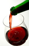 Verre à vin de bon vin français photo stock