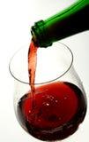 Verre à vin de bon vin français Photo stock