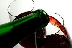 Verre à vin de bon vin français Photographie stock libre de droits