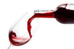 Verre à vin de bouteille de vin Photo stock