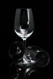verre à vin du noir deux de fond Photo stock