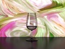Verre à vin et art abstrait Photo stock
