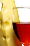 Verre à vin et fromage   photo stock