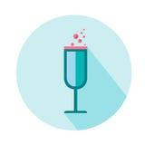 Verre à vin pour l'icône de femme Beauté et accessoires Image stock