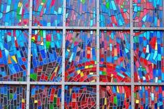 Verre étonnant de mosaique dans la fenêtre d'avance Images libres de droits