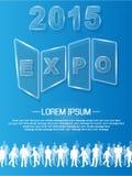 Verre advresting d'événement annuel de l'expo 2015 illustration libre de droits