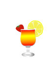Verre avec la boisson Photo libre de droits