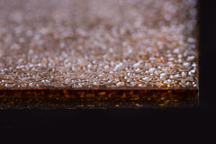 Verre cannelé Élément de conception La texture onduleuse photographie stock