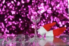 Verre cassé de nouvelle année Image stock