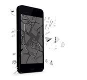 Verre cassé par Smartphone Photos libres de droits