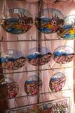 Verre coloré d'art, le souvenir du lac Kawaguchi Photo libre de droits