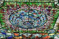 Verre coloré dans Xcaret, Mexique photos stock