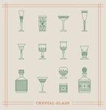 Verre cristal de vintage Images libres de droits