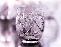 Verre d'eau en cristal Image libre de droits