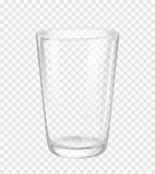Verre d'eau sans eau illustration stock
