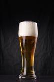 Verre de bière blonde Photos stock