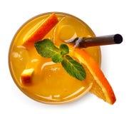 Verre de boisson de soude orange photographie stock libre de droits