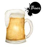 Verre de boissons d'alcool de bière Photos libres de droits