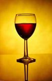 Verre de bouteille et de vin Photo stock