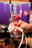 Verre de champagne Photo stock