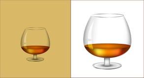 Verre de cognac Photographie stock