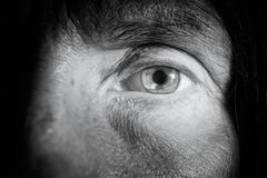Verre de contact sur l'oeil Image stock