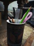 Verre de crayon image libre de droits