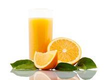 Verre de jus d'orange Photographie stock libre de droits