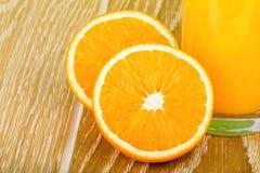 Verre de jus d'orange Photographie stock