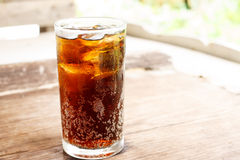 Verre de kola Photo stock