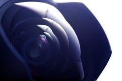 Verre de lentille grande-angulaire Photos libres de droits
