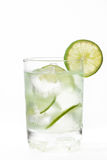 Verre de limonade naturelle froide Photos stock