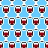 Verre de modèle de vin Image libre de droits