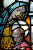 Verre de tache de Vierge Marie Photographie stock libre de droits