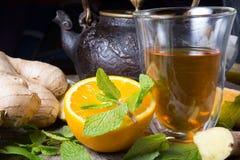 Verre de thé Photo stock