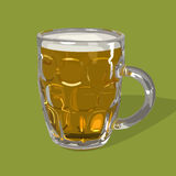 Verre de vecteur de bière Images stock