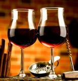 Verre de vin Photographie stock