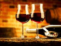 Verre de vin Images libres de droits