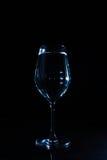 Verre de vin avec de l'eau Images stock