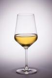 Verre de vin blanc Images libres de droits